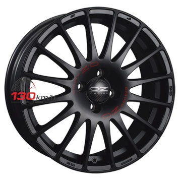 OZ Superturismo GT 7,5Jx17 5x114,3 ET 50 d75 Matt Black + Red Lettering Литой