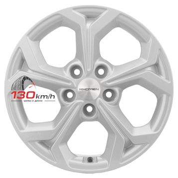 Khomen Wheels Double-Spoke 606 (16_Ceed/Elantra) 6,5Jx16 5x114,3 ET 50 d67,1 F-Silver Литой